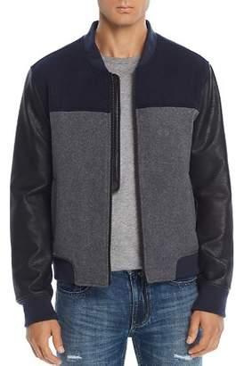 Blank NYC BLANKNYC Mixed-Media Color-Block Bomber Jacket