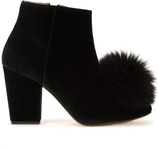 Sonia Rykiel pompom applique boots