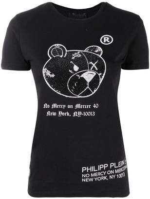 Philipp Plein round neck teddy bear T-shirt