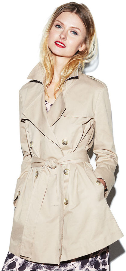 MADE Fashion Week for Impulse Jacket, Double-Breasted Tie Camel Trench