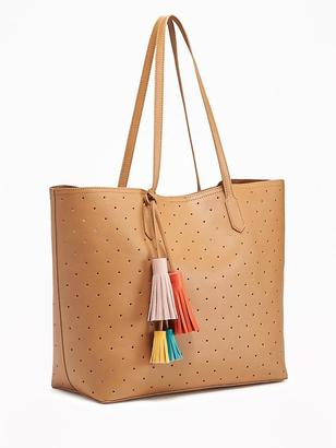 Laser-Dot Multi-Tassel Tote for Women $39.94 thestylecure.com