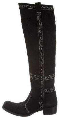 Gianni Barbato Distressed Knee-High Boots