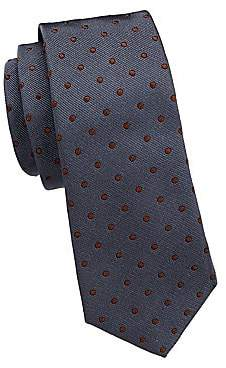 Brunello Cucinelli Men's Polka Dot Jacquard Silk Tie
