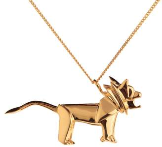 Origami Jewellery Lion Necklace Gold