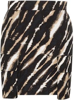 House of Holland tie-dye zebra print mini skirt