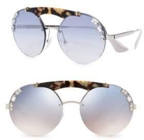 Prada 37MM Round Mirror Sunglasses