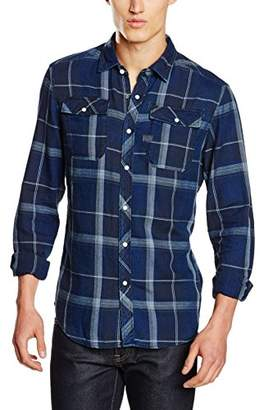 G Star Men's Landoh Long Sleeve Button Down Shirt