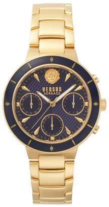 Versus By Versace Versus Women's Harbour Heights Yellow Gold-Tone Stainless Steel Bracelet Watch 38mm