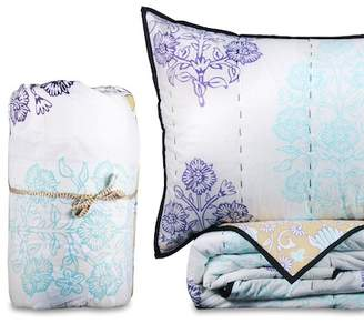 California Design Den by NMK King Bagicha Handcrafted Cotton Quilt Set - Morning Glory