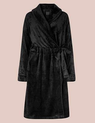 Marks and Spencer Luxury Velvet Touch Fleece Dressing Gown