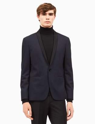 Calvin Klein slim fit wool stretch tuxedo blazer