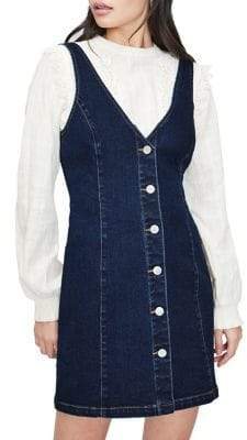 Miss Selfridge Button Front Pinafore Dress