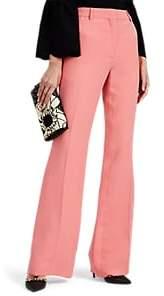Women's Silk-Blend Twill Flared Trousers - Pink
