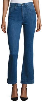 Co High-Waist Flare-leg Jeans, Indigo
