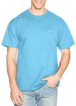 Hanes Men's Premium Beefy-T Short Sleeve T-Shirt With Pocket, Up to Size 3XL