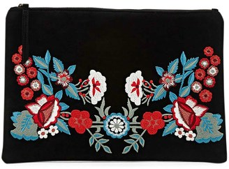 FOREVER 21+ Floral Embroidered Clutch $15.90 thestylecure.com