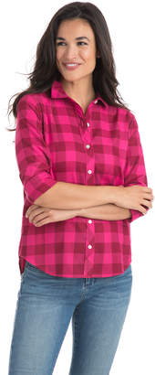 Vineyard Vines Relaxed Carmel Buffalo Check Performance Flannel Button Down