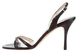 Jimmy Choo Slingback Glitter Sandals