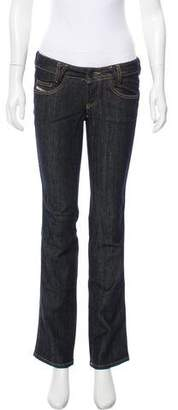 Diesel Low-Rise Straight-Leg Jeans