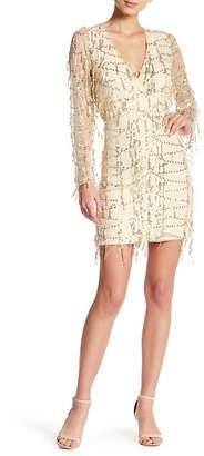 Rodi Few Moda Sequin Fringe Mesh Mini Dress