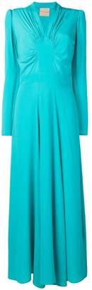 Cavallini Erika long flared evening dress