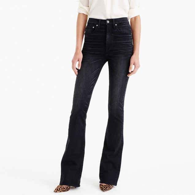 J.Crew Point Sur trumpet flare jean in washed black