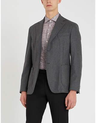 Etro Zebra-print tailored-fit cotton-poplin shirt