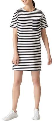 Whistles Amaka Striped Jersey Dress