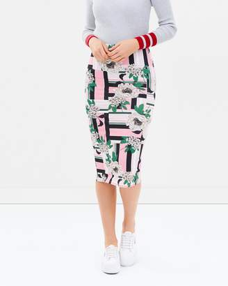 Dorothy Perkins Abstract Floral Pencil Skirt