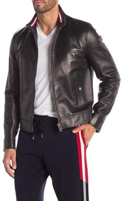Bally Collared Leather Jacket