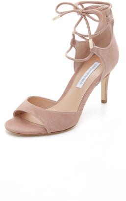Diane von Furstenberg Rimini Lace Up Sandals $298 thestylecure.com