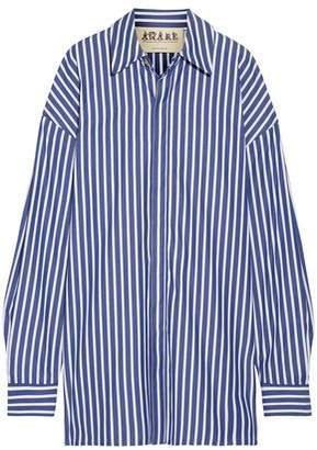 Awake Oversized Striped Cotton-Poplin Shirt
