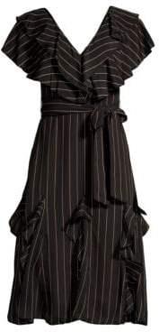 Alice + Olivia Tessa Ruffle A-Line Dress