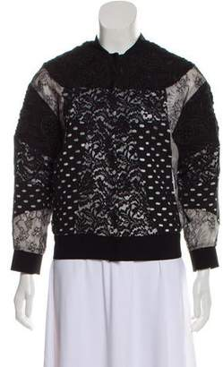 No.21 No. 21 Lace-Accented Bomber Jacket
