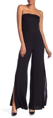 Couture Go Strapless Slit Leg Jumpsuit