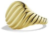 David Yurman Sculpted Cable Pinky Ring in Gold $1,950 thestylecure.com