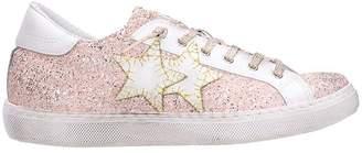 2star 2Star Low Pink Glitter Sneakers