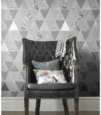 At Debenhams Graham Brown Silver Reflections Geometric Wallpaper