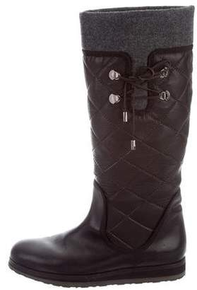 Moncler Quilted Knee-High Boots