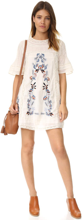 Free People Perfectly Victorian Embroidered Mini Dress 10