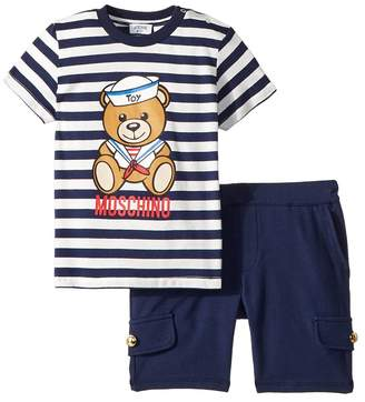 Moschino Kids Nautical Teddy Bear T-Shirt Shorts Set Boy's Suits Sets