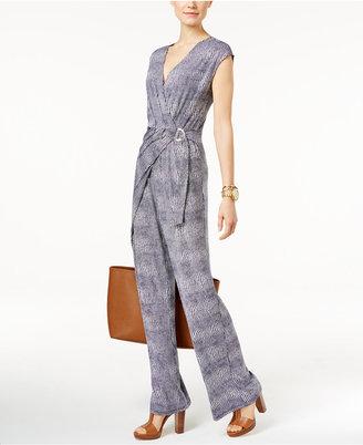 MICHAEL Michael Kors Printed Wrap Jumpsuit $140 thestylecure.com