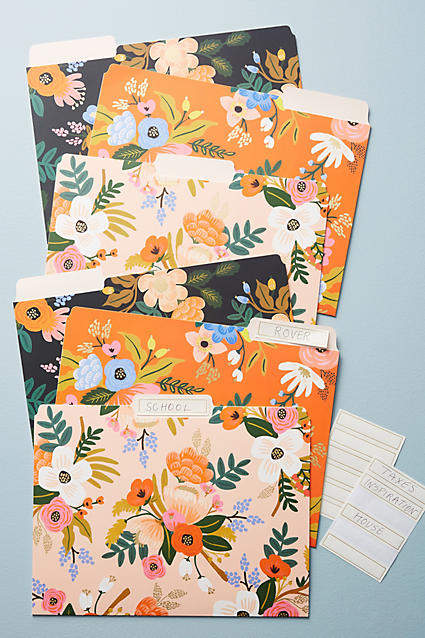 Rifle Paper Co. Penned Posies File Folder Set