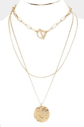 Embellish Gold Triple Necklace