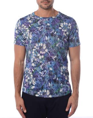 Bertigo Men's Floral Printed T-Shirt
