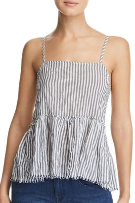 Nation Ltd. Stripe Peplum Tank
