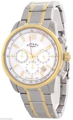 Rotary Men's Dial Stainless Steel Two Tone Bracelet Chronograph Watch GB00423/02