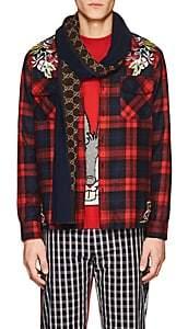 Gucci Men's GG Supreme Wool-Silk Scarf - Beige, Tan