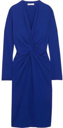 Lanvin - Twist-front Jersey Dress - Royal blue $1,595 thestylecure.com