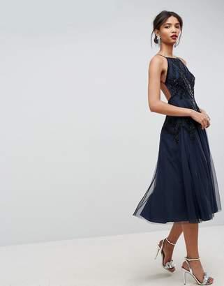 Asos Beautiful Beaded Cami Backless Midi Dress